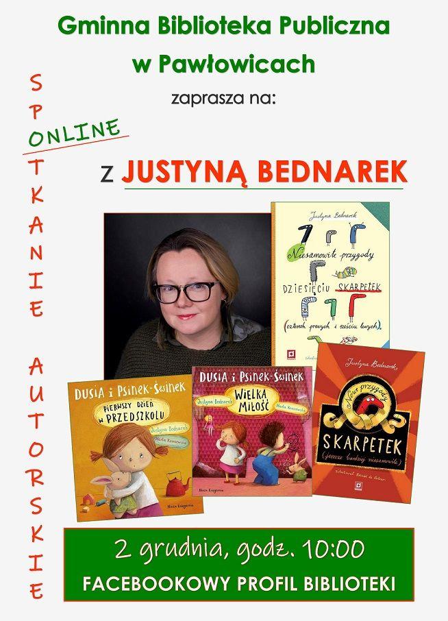 Spotkanie online z Justyną Bednarek