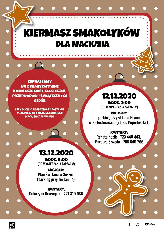 Kiermasze Smakołyków dla Maciusia w Gminie Suszec!