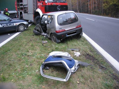 Cztery wypadki na DK1