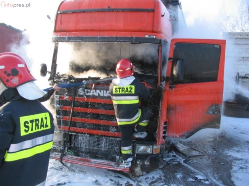 Suszec: Spłonęła ciężarówka