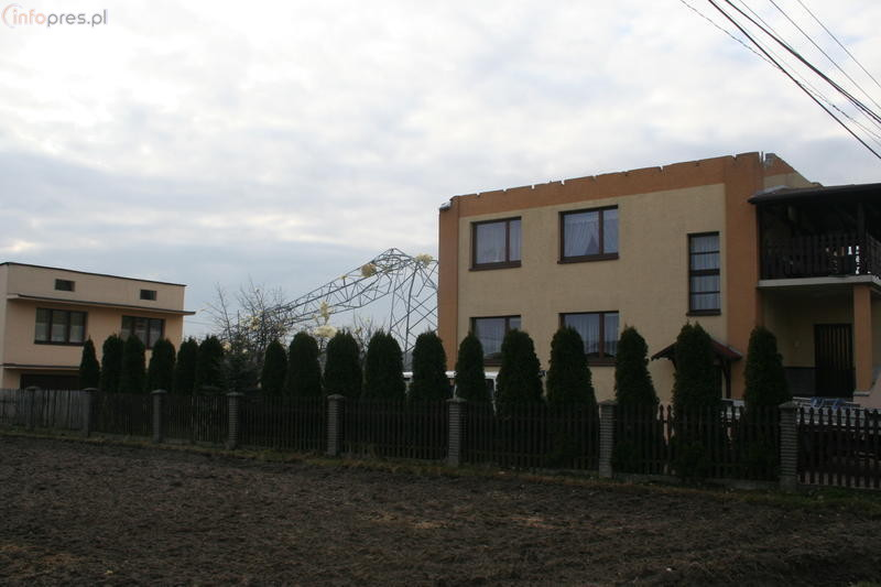 Trąba powietrzna w Radostowicach