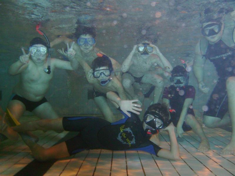 Ostatnie zajęcia - pływanie w masce i rurce