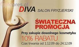 Świąteczna Promocja w Salonie Fryzjerskim DIVA
