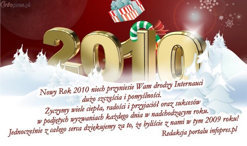 Życzenia noworoczne portalu infopres.pl