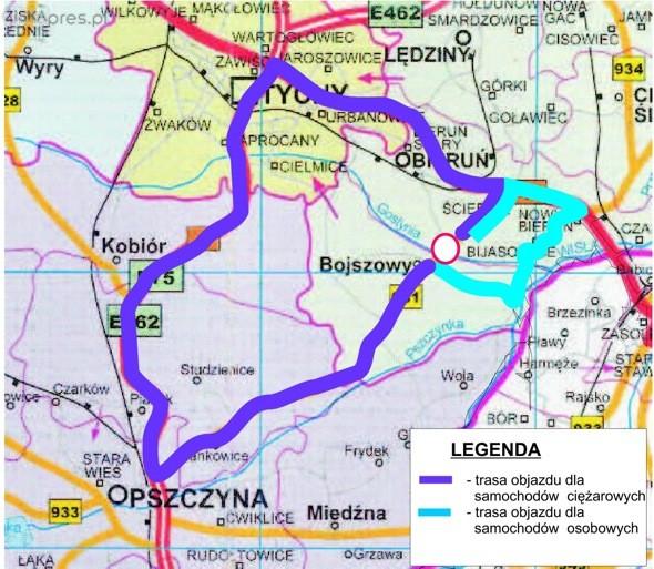 DW 931 między Jajostami a Bojszowami będzie zamknięta