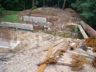 Łąka: przebudowa mostu