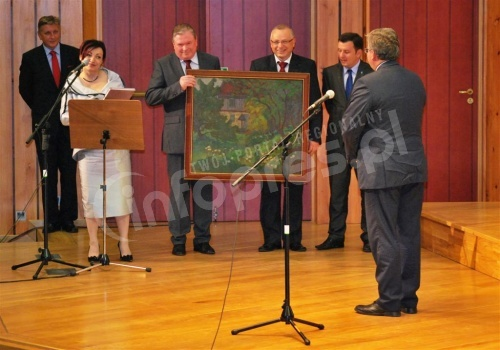 Spotkanie starosty pszczyńskiego z prezydentem RP