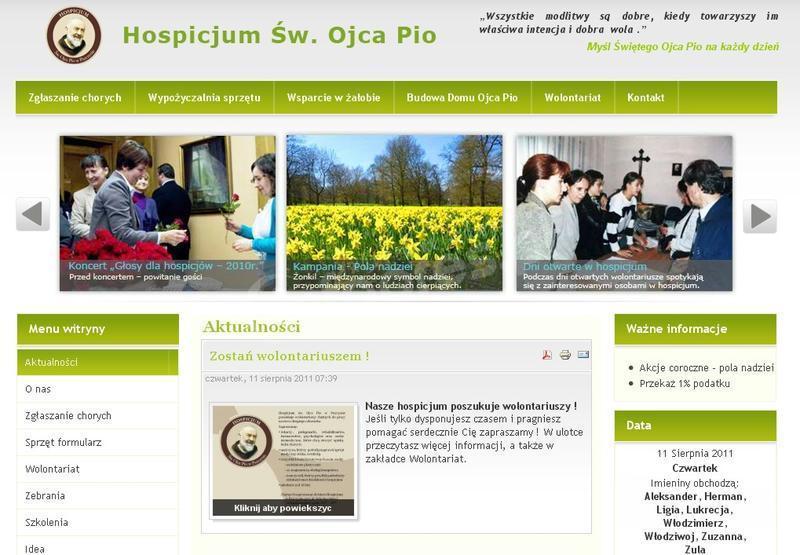 Nowa strona Hospicjum Św. Ojca Pio