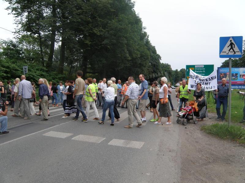 Protest na Żorskiej
