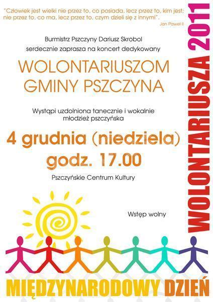 Koncert na Dzień Wolontariusza