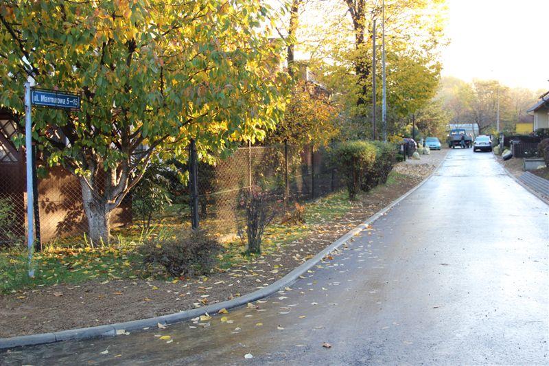 Ulica Marmurowa została wyremontowana