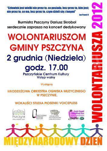 Koncert dla wolontariuszy