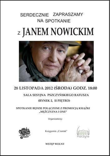 Jan Nowicki w Pszczynie