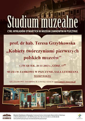 Studium muzealne - kolejny wykład