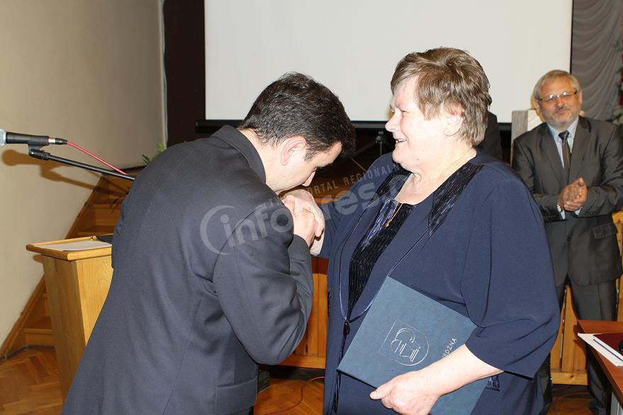 Maria Mika z Żubrem Starosty Pszczyńskiego