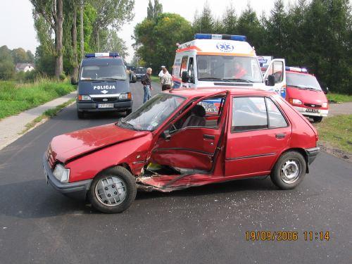 Wypadek w Łące