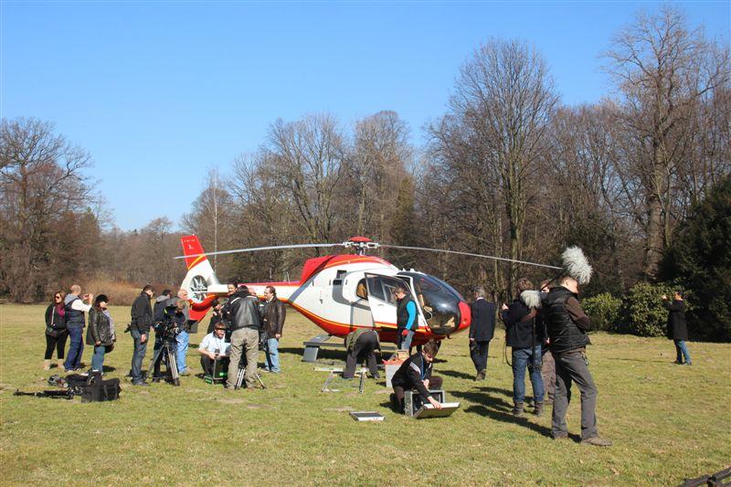 Litwini kręcili w Pszczynie film. Były m.in. helikoptery