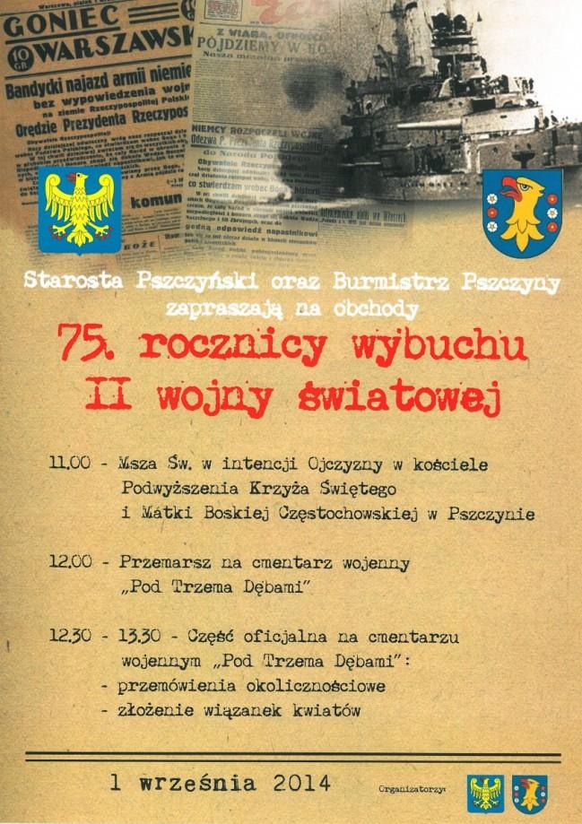 75. rocznica wybuchu II wojny światowej