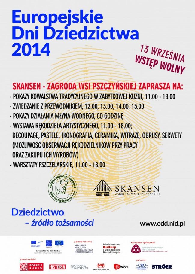 Europejskie Dni Dziedzictwa 2014 w Skansenie